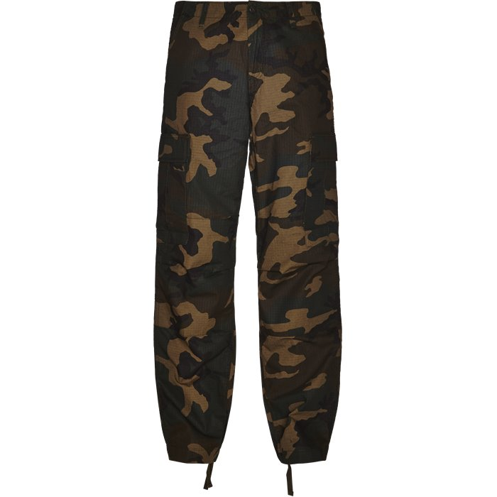 Regular Cargo Pant Camo - Bukser - Regular - Army